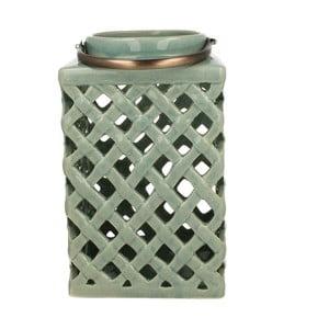 Lampion ceramiczny Green Light, 26 cm