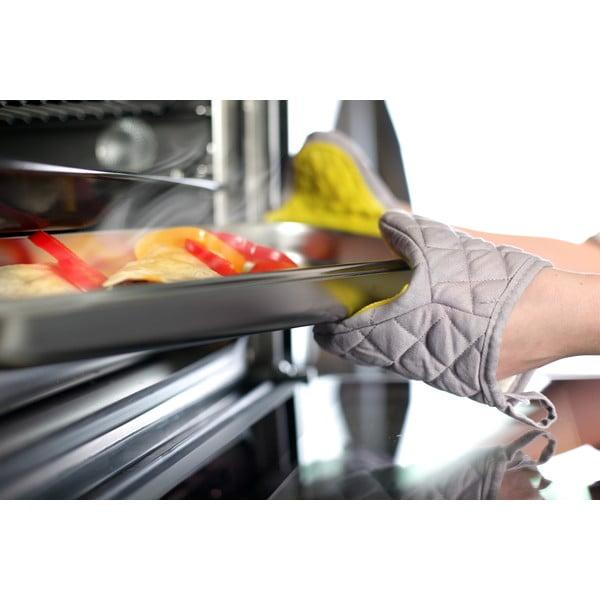 Żółto-szara bawełniana rękawica kuchenna z silikonem Vialli Design