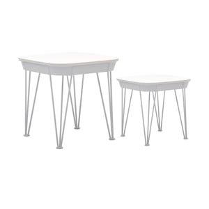 Zestaw 2 białych stolików RGE Ester