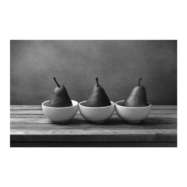 Obraz Black&White Pears, 45x70 cm