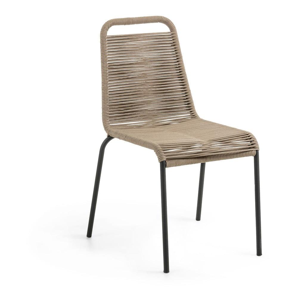 Brązowe krzesło La Forma Glenville