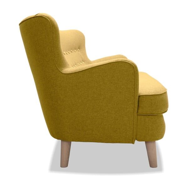 Żółta sofa 3-osobowa Vivonita Eden