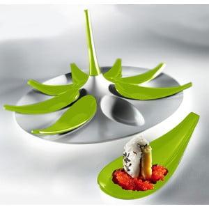 Zestaw do serwowania przekąsek Entity White/Green