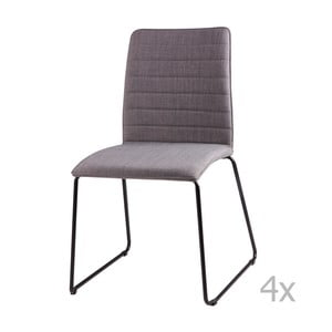 Zestaw 4 jasnoszarych krzeseł sømcasa Vera
