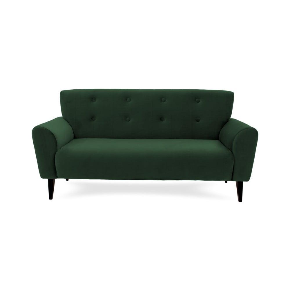 Ciemnozielona 3-osobowa sofa Vivonita Kiara