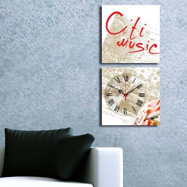 Obraz z zegarem Music