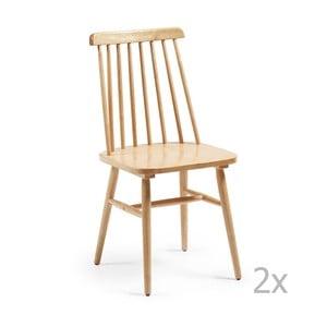 Zestaw 2 brązowych krzeseł La Forma Kristie