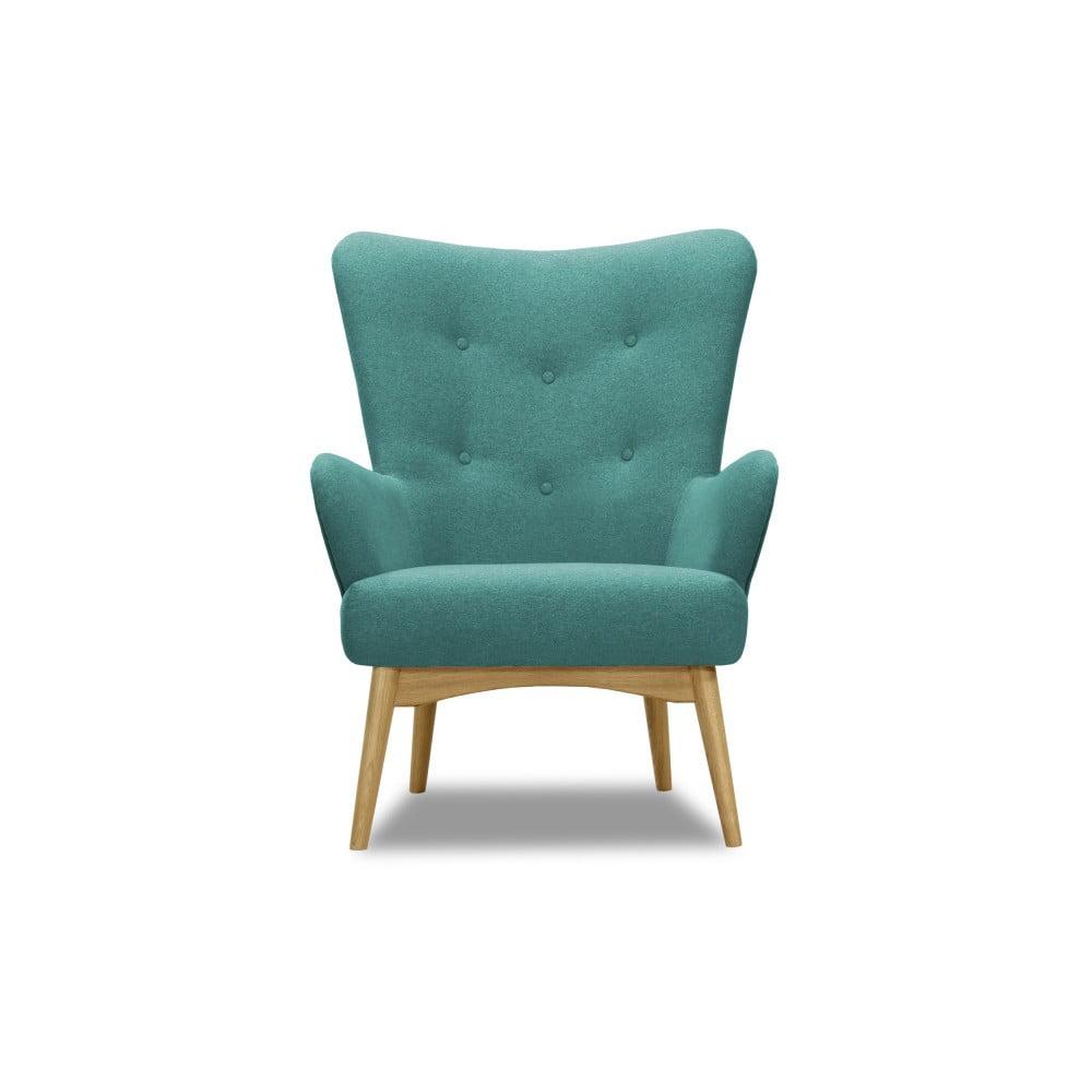 Turkusowy fotel Vivonita Uma