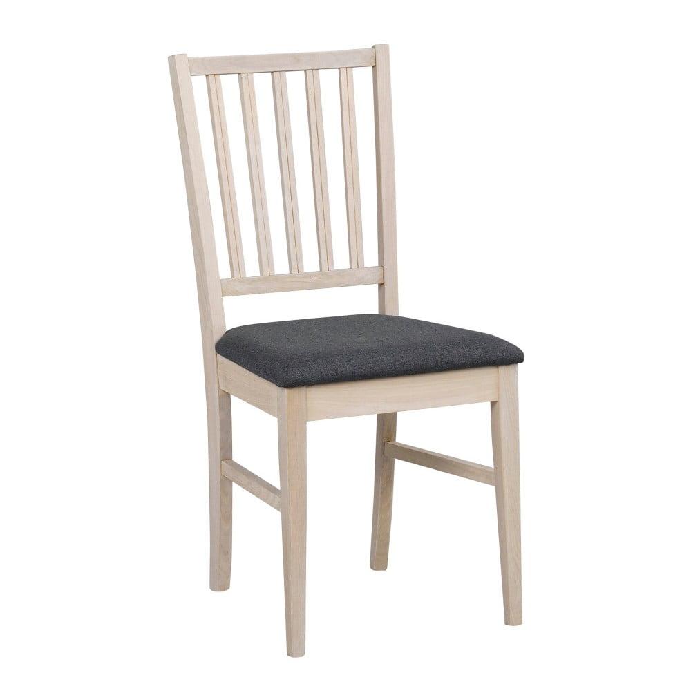 Szare dębowe krzesło do jadalni Rowico Filippa