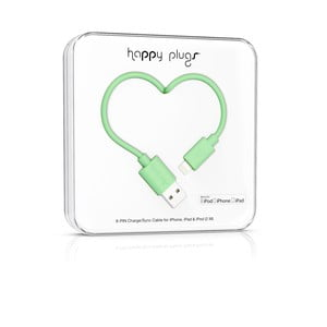 Kabel do ładowania i transmisji danych Happy Plugs 2 m, miętowy
