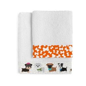 Komplet 2 ręczników Dogs, 50x100 cm i 70x140 cm