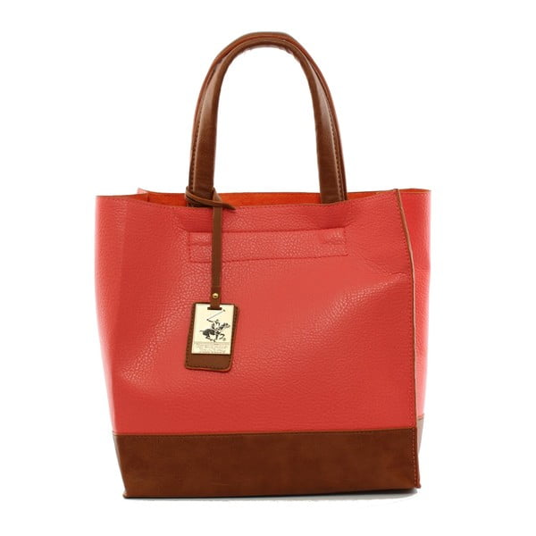 Torebka Beverly Hills Polo Club 89 - Red/Tan