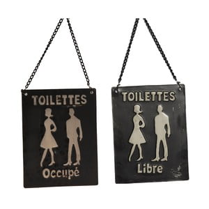 Tabliczka łazienkowa Occupé