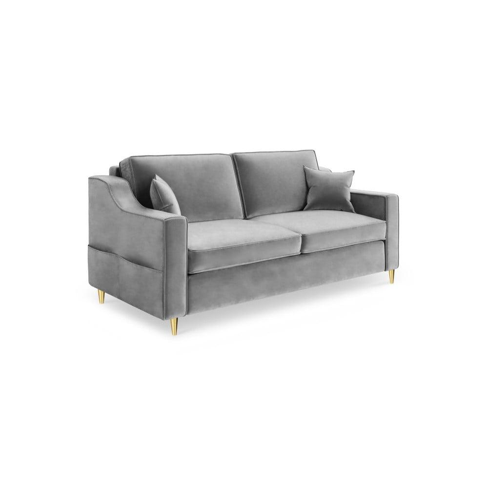 Szara sofa 2-osobowa Mazzini Sofas Marigold