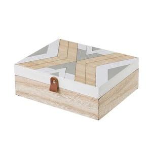Bezowo-szary pojemnik Unimasa, 22x8 cm