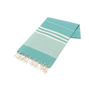 Turkusowy ręcznik Hammam Hereke, 100x180cm