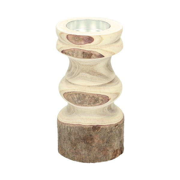 Drewniany świecznik HF Living, 27 cm