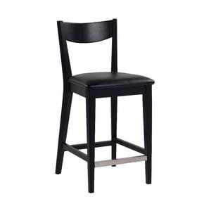Černá barová židle s černým podsedákem Rowico Dylan