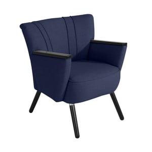 Ciemnoniebieski fotel Max Winzer Laurin