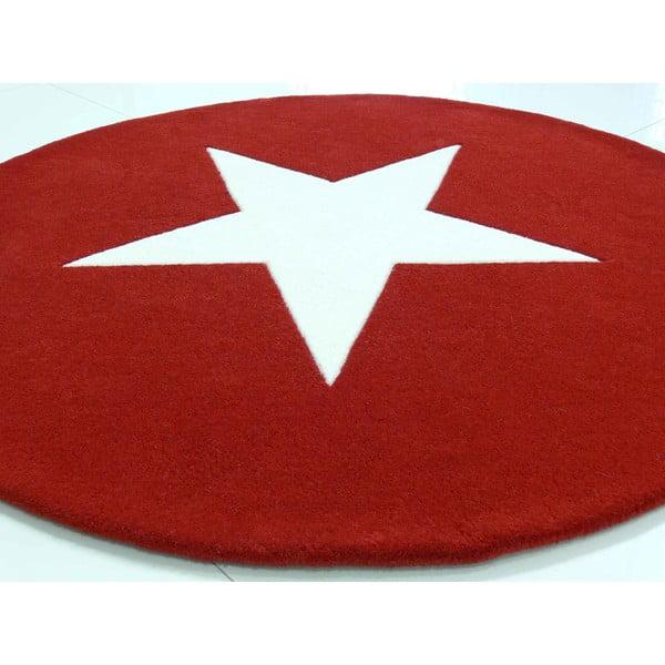 Wełniany dywan Star Red, 130 cm