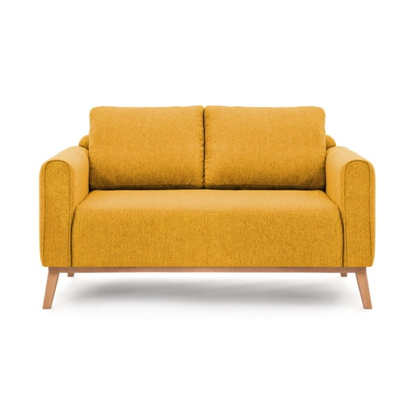 Musztardowa sofa dwuosobowa VIVONITA Milton