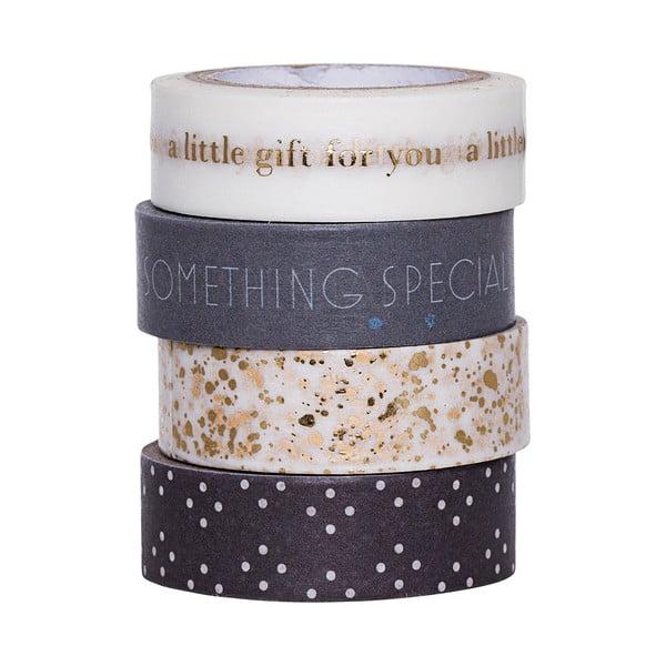 Zestaw 4 taśm ozdobnych washi Bloomingville Little Gift