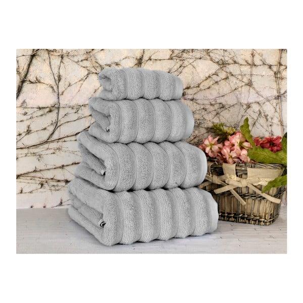Szary ręcznik Irya Home Microline, 30x50 cm