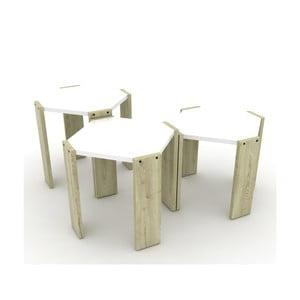 Zestaw 3 jasnych stolików Rafevi Hansel